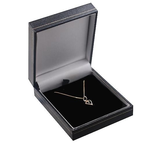 9ct Gold 8mm heart symbol of charity Pendant with a curb Chain 16 inches Only Suitable for Children