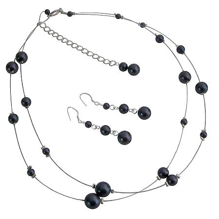 Christmas party Year Jewelry Purple Double Stranded Set