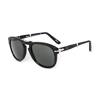 Persol 714 Black Acetate Folding Aviator Sunglasses
