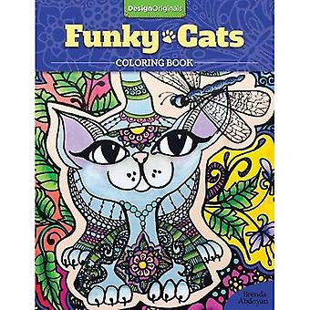 Funky katten kleurplaten boek