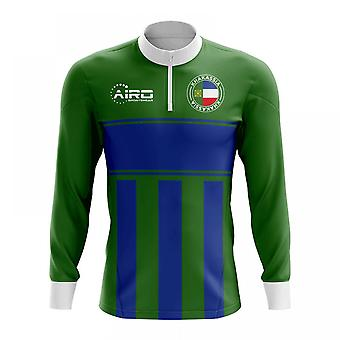 de3c3954972 Khakassia Concept Football Half Zip Midlayer Top (Green-Blue)