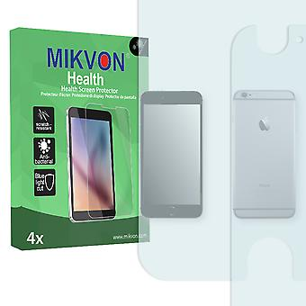 Apple iPhone 6 Plus Screen Protector - Mikvon Health (Retail Package with accessories) (2x FRONT / 2x BACK) (reduced foil)