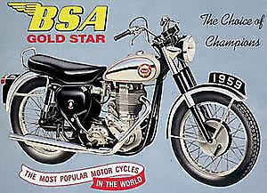BSA Goldstar Metal Sign   (fd)