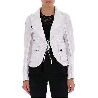 Dsquared2 White Nylon Outerwear Jacket