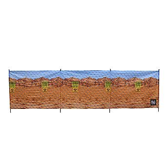 OLPRO Biohazard 4 Pole Compact Camping Windbreak with Steel poles 480cm x 140cm