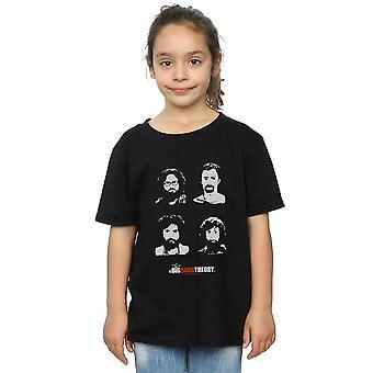 The Big Bang Theory Mädchen Expedition Bärte T-Shirt