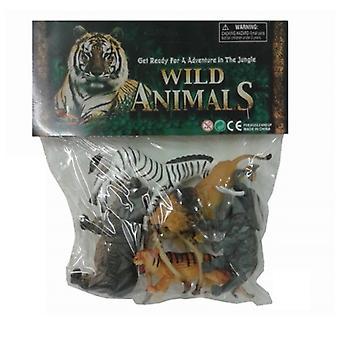 Wild Jungle Animals Toy Figures 6 Pk