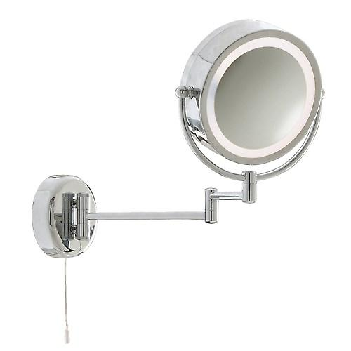 Searchlight 11824 Magnifying Extendable Bathroom Mirror Light X3 Magnification
