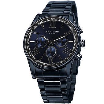 Akribos XXIV hombres AK736 cuarzo multifunción acero inoxidable reloj de braclet AK736BLU