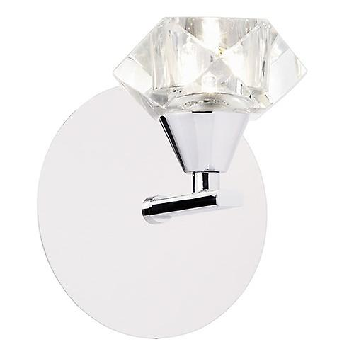 Endon ARIETTA-1WBCH Arietta Modern 1 Arm Wall Light With Clear Glass Shade