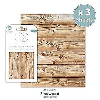 Craft Consortium Pinewood Decoupage Papers (CCDECP330)