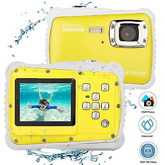 2 inch lcd display waterproof action camera camcorder - yellow