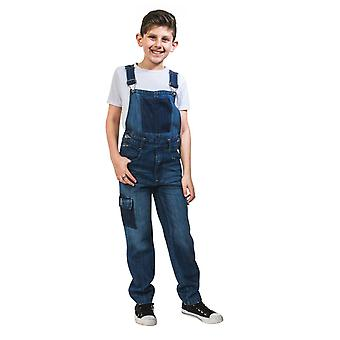 Benjamin kids deconstructed denim dungarees
