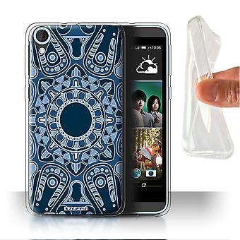 STUFF4 Gel/TPU Case/Cover for HTC Desire 820s Dual/Octagon/Blue/Mandala Art