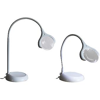 Magnificent Floor Table Led Magnifying Lamp White U25050