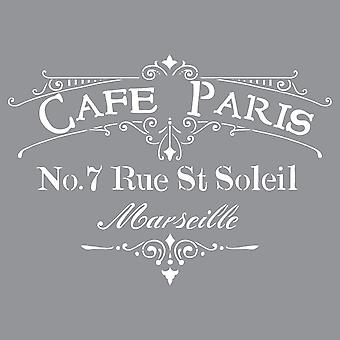 Americana Decor Stencil Cafe Paris Ads 02