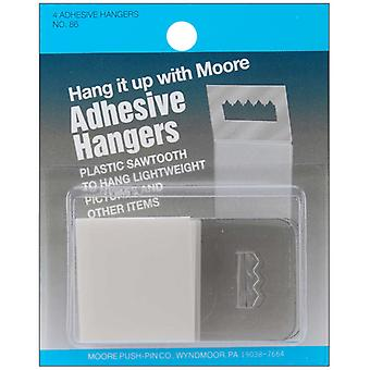 Adhesive Plastic Saw Tooth Hangers 4 Pkg 86