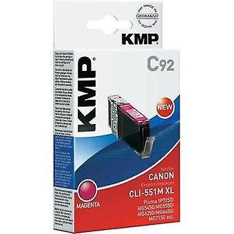 KMP Ink replaced Canon CLI-551Y, CLI-551Y XL Compatible Yellow C93 1519,0009