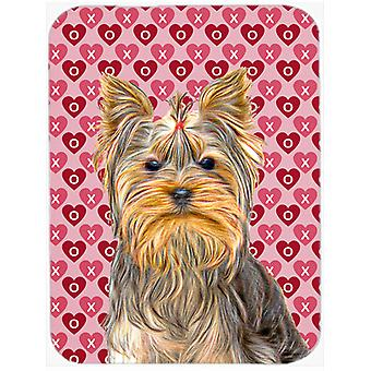 Hearts Love and Valentine's Day Yorkie / Yorkshire Terrier Mouse Pad, Hot Pad or Trivet KJ1191MP