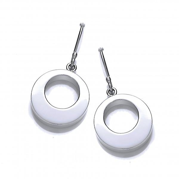Cavendish French Silver 'O' Drop Earrings