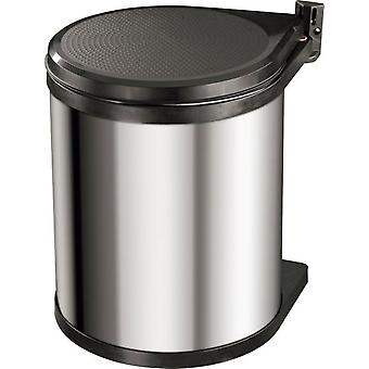 Hailo Integrated Waste Cube 15 Liter Compact-Box (Steel Sheet)