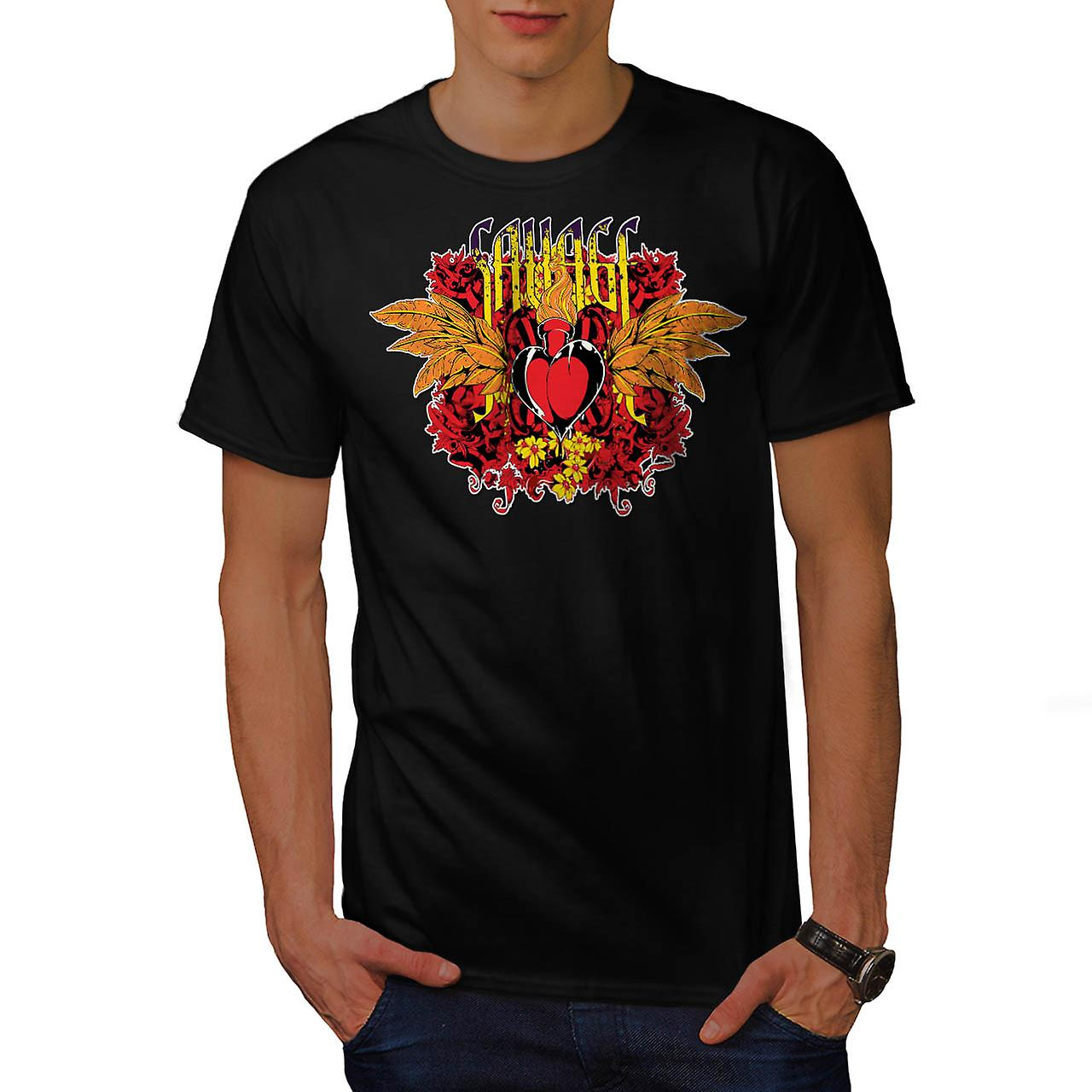 Savage Love Heart USA Lust feu homme T-shirt noire | Wellcoda