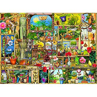 The Garden Cupboard Poster Print by Colin Thompson