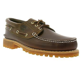 Timberland heritage 3 eye classic lug men's boat shoes Brown 30003