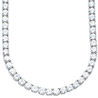 Premium bling - Sterling 925 Silver CZ necklace - 5mm