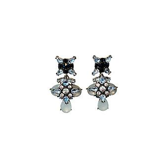 Chic long statement earrings with Rhinestones
