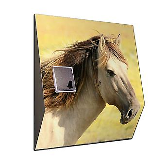 Radio Gong horses as wireless front door bell stainless steel V2A