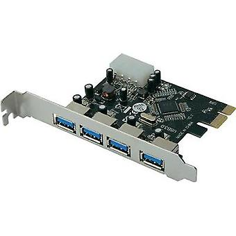 4 ports USB 3.0 controller card USB type A PCIe Digitus