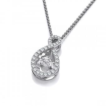 Cavendish French Silver and Dancing CZ Infinity Pendant