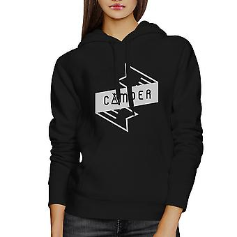 Camper Unisex Black Hoodie Cute Design Gift Idea For Camping Lovers