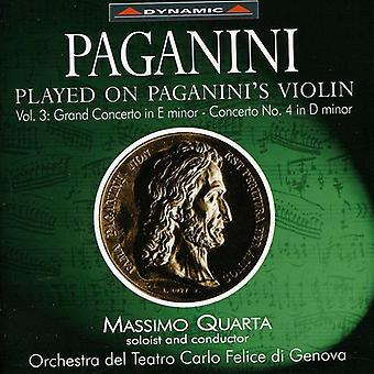 N. Paganini - Paganini: Jugado en el violín de Paganini, importación USA Vol. 3 [CD]