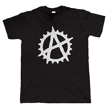 Símbolo de anarquia Cog, t-shirt Mens