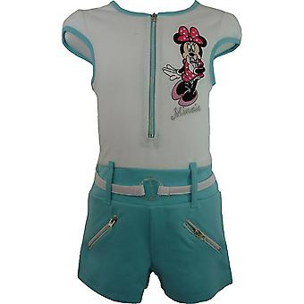 Girls Disney Minnie Mouse Short Sleeve Playsuit