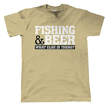 Vectorbomb, fiske & öl, Mens Funny sportfiske T Shirt (S till 5XL)