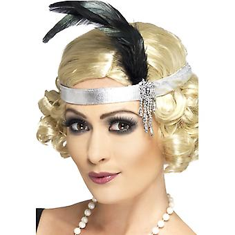 Head setting silver to the 20s costume Charleston headband