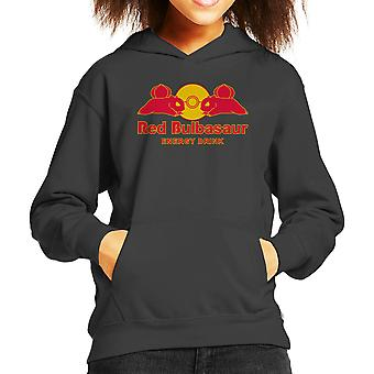 Pokemon Red Bulbasaur Energy Drink Kid's Hooded Sweatshirt