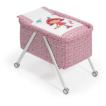 Interbaby Minicuna Aluminum White With Textile Model Riding Hood