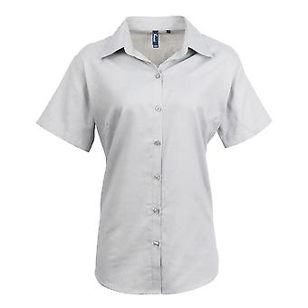 Premier Womens/Ladies Signature Oxford Short Sleeve Work Shirt