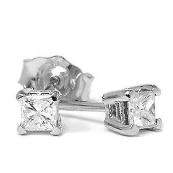1 / 5ct алмазов шпильки 14K Белое золото
