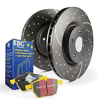 EBC Brake Kit - S5 Yellowstuff and GD Rotors S5KF1049 Fits:SUBARU  1998 - 1998