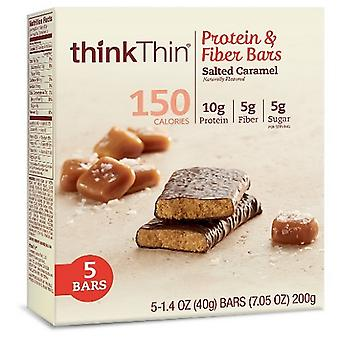 Think Thin Protein & Fiber Bars Salted Caramel 2 Box Pack