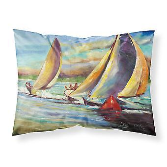 Knost Regatta Pass Christian Sailboats Fabric Standard Pillowcase