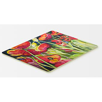 Carolines Treasures  JMK1121CMT Red Poppies Kitchen or Bath Mat 20x30