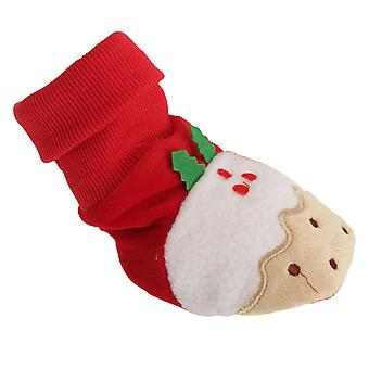 Nursery Time Baby Christmas Pudding Booties