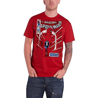 Spiderman T Shirt mens red No More comic cover new Official marvel comics