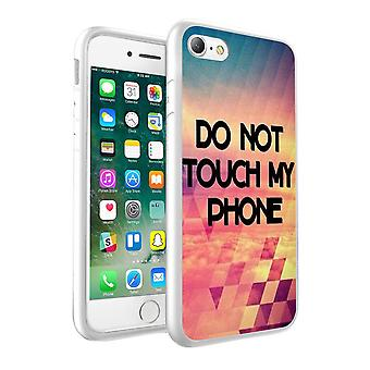 i-Tronixs Samsung Galaxy S8 Do Not Touch My Phone Design Printed Case Skin Cover - 018